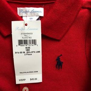 Baby Girl's Ralph Lauren Polo Red Shirt Dress.